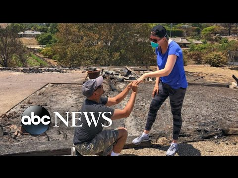 Man proposes to his wife again after ring is found in ashes of burned home