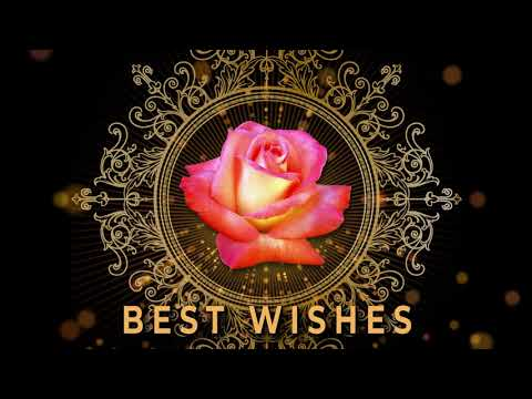 💖Best wishes💖Best Animated Greeting Card 4K