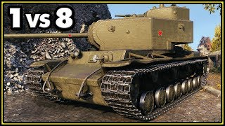 KV-4 - 1 vs 8 - World of Tanks Gameplay