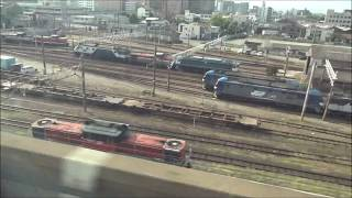 30年前と比較・加速度の違いに驚愕山陽新幹線岡山発車1985年と2018年撮影山陰迂回貨物用のDD51の姿も