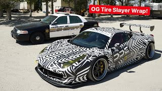"NEW FERRARI WRAP DESIGN TO START WIDEBODY ""TIRE SLAYER"" BUILD?"