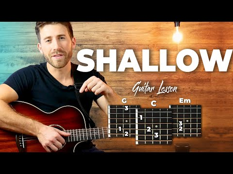 🎸 Shallow • guitar lesson w/ intro fingerpicking riff, chords, and