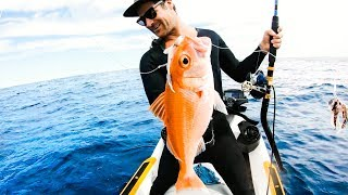 CATCH AND COOK WITH FANS Jet Ski Deep Sea Fishing RUBY SNAPPER   Ep 101