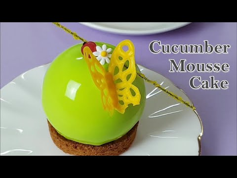 [무스케이크] 🥒오이 무스 케이크 만들기/사과🍎 파인애플🍍글라사주 무스케이크/How to make cucumber glazing mousse cake/キュウリムースケーキ
