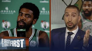 Nick and Cris weighs in Kyrie Irving complaining about media scrutiny   NBA   FIRST THINGS FIRST
