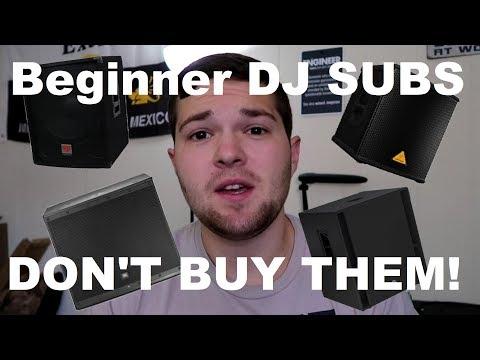 Beginner DJ Subwoofers | 5 Reasons to NOT buy beginner  Powered Subwoofers