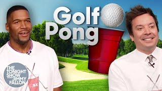 Golf Pong with Michael Strahan | The Tonight Show Starring Jimmy Fallon