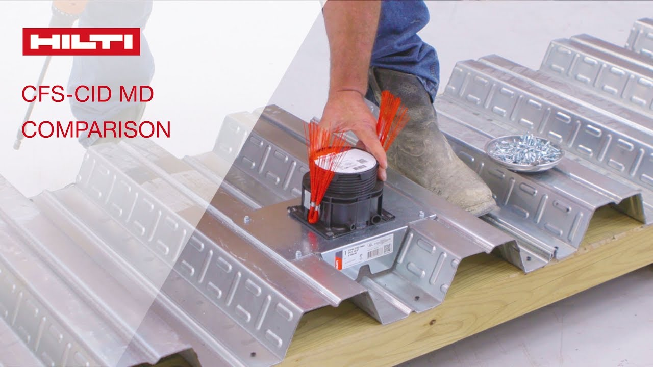 comparison of Hilti's firestop cast-in for metal deck vs. standard methods