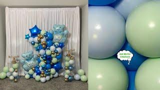 Baby Shower Balloon Garland Column