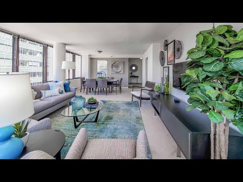 A spacious one-bedroom model #B2801 in Streeterville at McClurg Court