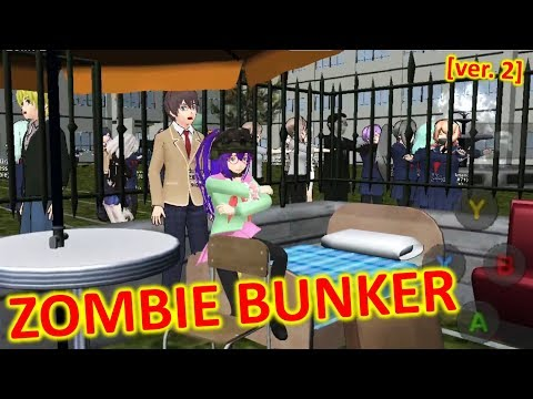 [School Girls Simulator] MADE A ZOMBIE BUNKER WITH FURNITURE!!