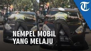 Viral Video Polisi 'Nempel' di Depan Mobil yang Tak Mau Diberhentikan, Ini Penjelasan Polda Jabar