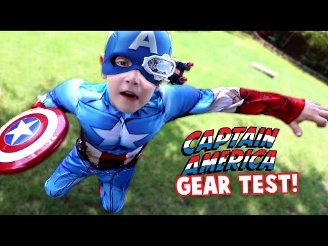 Captain America Gear Test! Avengers Movie Toys for Kids Review by KIDCITY