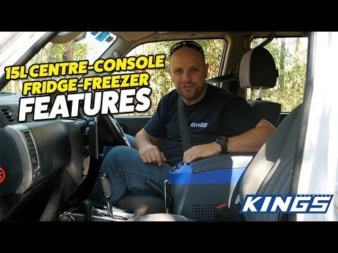 Adventure Kings 15L Centre Console Fridge Freezer Features