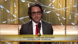 Robert Downey Jr Golden Globe Awards 2011 Speech FULL HQ
