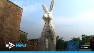 Giant colourful hares on the loose in North Berwick