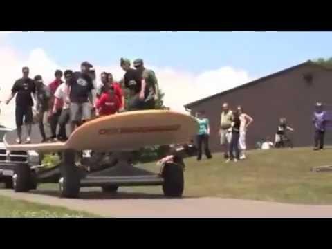 世界上能載人的大滑板