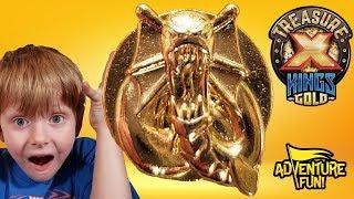 Treasure X Kings Gold Ultra Rare Gold Dipped Treasure Season 3 Toy Review!