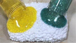MIXING GLITTER INTO SLIME - GLITTER AND SLIME MIXING - GLITTER SLIME - SATISFYING SLIME VIDEO PART13