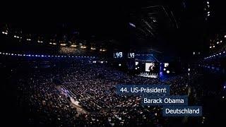 12 Minuten vor dem Live-Interview mit Barack Obama