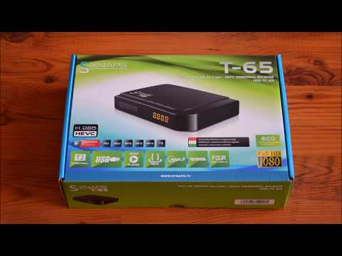 Synaps T-65 DVB-T2 HD set top box - instalace