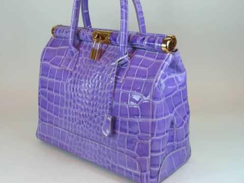 MEGA TREND  Leder Damentaschen Handtaschen Kroko