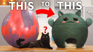 DIY Cactus Cat House (a CATcus!)