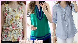 Latest Casual Summer Top And Blouse Styles For Womens 2019