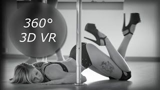 3D Pole Dance with pole mimi - 360 3D VR