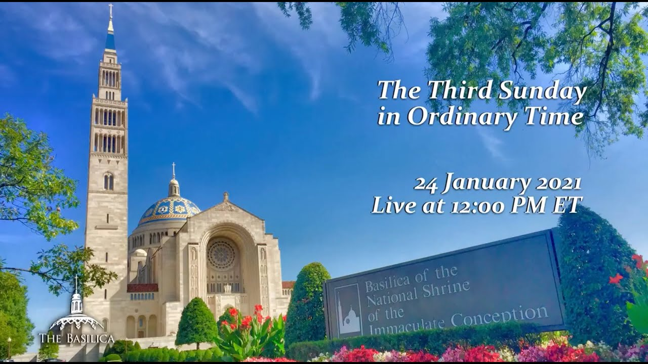Catholic Sunday Mass 24 January 2021 By Basilica of the National Shrine