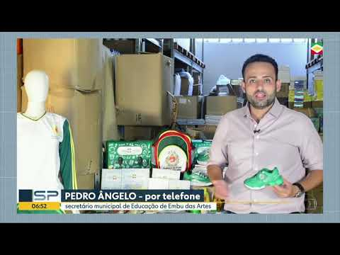 Secretário de Educação do Embu das Artes Pedro Ângelo no Bom dia Sp fala sobre os Estudantes que não receberam kits escolares