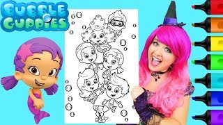 Coloring Bubble Guppies All Characters Coloring Page Prismacolor Markers | KiMMi THE CLOWN