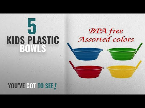 Best Kids Plastic Bowls [2018]: Green Direct Sippy-Bowl 22oz Plastic Bowl with Built in Straw for