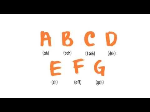 German for Beginners: Lesson 1 - Alphabet and Phonetics