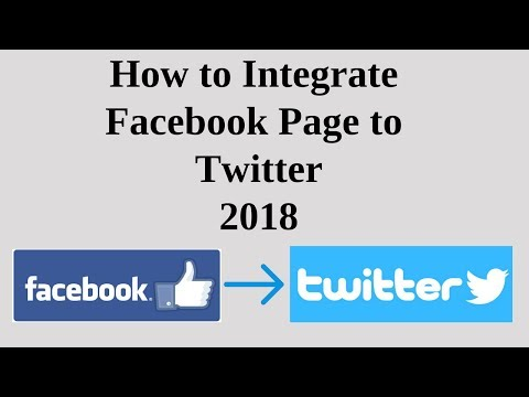 How to intrgrate facebook page to twitter 2018