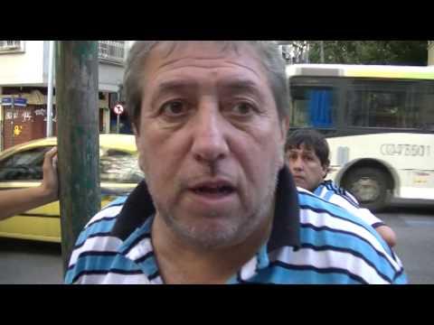 """""""Mundial Brasil 2014 Hinchas de Belgrano y Talleres en Rio de Janeiro"""" Barra: Los Piratas Celestes de Alberdi • Club: Belgrano"""