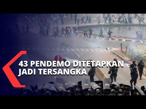 polisi tetapkan tersangka perusuh demo penolakan omnibus law