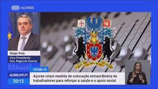 24/04: Governo dos Açores cria medida de colocação extraordinária de trabalhadores para reforçar a saúde e o apoio social