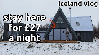 iceland luxury accommodation on a budget | golden circle road trip | vlog 2