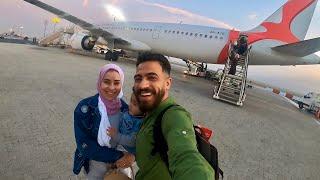 اول مرة في حياتنا نركب الطيارة✈️ شوفو رحلتنا الي دبي اجمل بلد في العالم💃😻