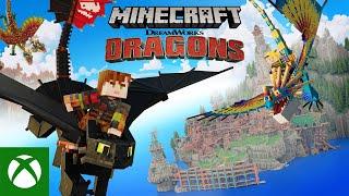 Xbox Minecraft Dreamworks How to Train Your Dragon DLC : Official Trailer anuncio