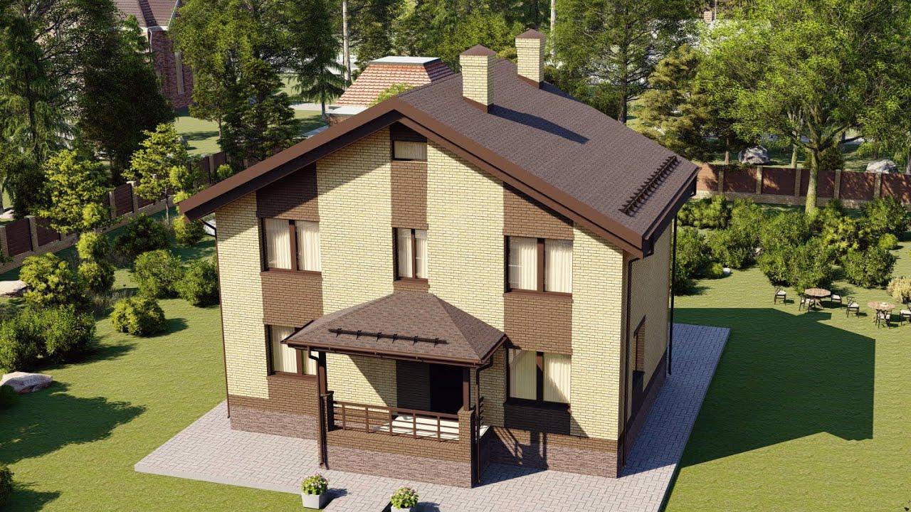 Проект дома с мансардой и удобной планировкой 127 м2