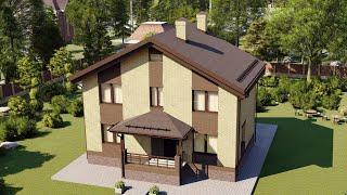 Проект дома 127-A, Площадь дома: 127 м2, Размер дома:  11,9x8 м