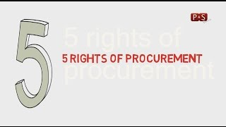 5 Rights Of Procurement