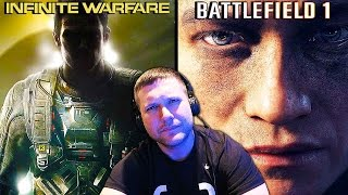 Reacting To INFINITE WARFARE & BATTLEFIELD 1 Trailer Song Swap