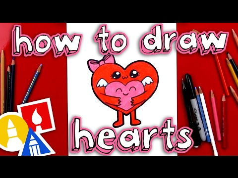 How To Draw Hugging Hearts For Valentine's Day