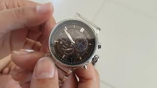 Review Bluetooth Citizen Bz1000-54e Watch Proximity Chronograph Perpetual Men's
