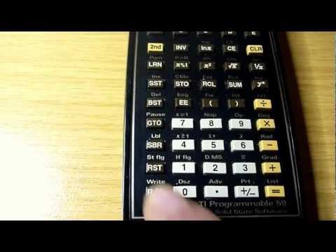 TI-59 testen & programmieren (Texas Instruments Taschenrechner)