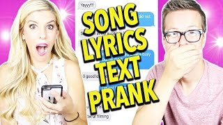 SONG LYRIC PRANK! (Justin Timberlake's Can't Stop The Feeling)