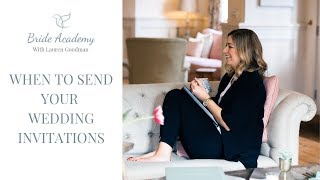 When To Send Wedding Invitations (AND SAVE THE DATES)